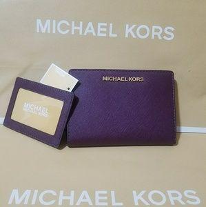 wallet +card case michael kors AUTHENTIC saffiano